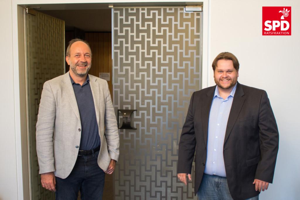 Prof. Lars Baumann und Lars Kelich