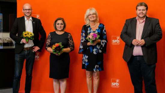 Der neue geschäftsführende Fraktionsvorstand: Lars Kelich, Kerstin Klebe-Politze, Hülya Iri und Jens Menge (v.r.)