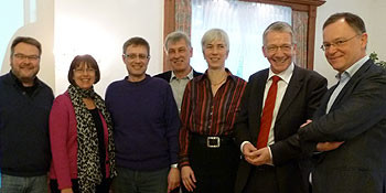 v.l. Thomas Hermann, Ulrike Bittner-Wolff, Michael Klie, Walter Meinhold, Christine Kastning, Dirk-Ulrich Mende, Stephan Weil
