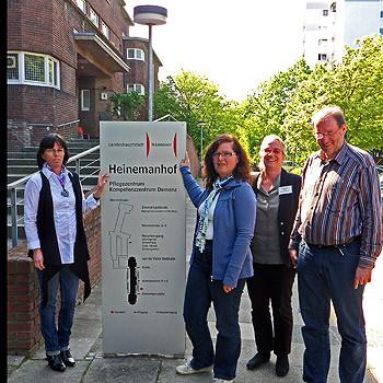 v.r.n.l. P. Keller, Dr. G. Koch, B. Gundert und J. Mineur