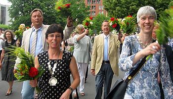 SPD-Ratsmitglieder beim Schützenausmarsch 2010